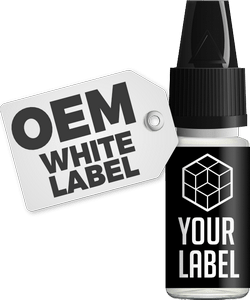 e-liquid white labelling available to brand with your own logo and branding